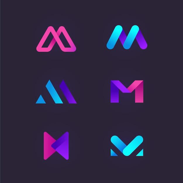 M logo sammlung Premium Vektoren