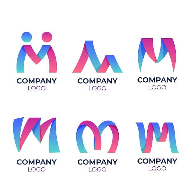 M logo-vorlagenpaket Kostenlosen Vektoren