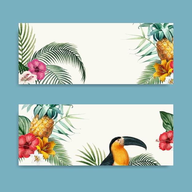 Macaw laub-modellsammlung Kostenlosen Vektoren