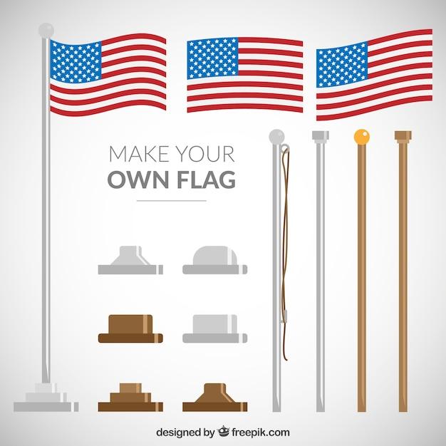 Machen sie ihre eigene flagge Kostenlosen Vektoren
