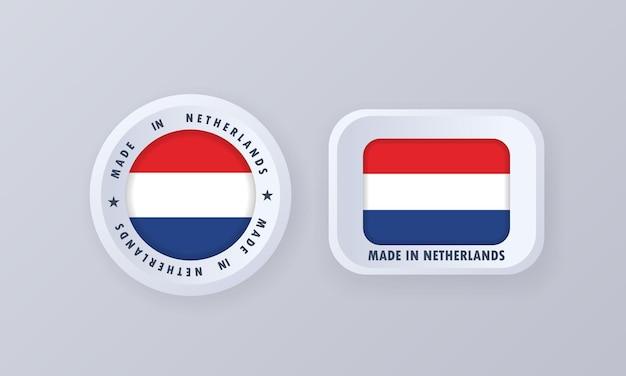 Made in netherlands illustration Premium Vektoren