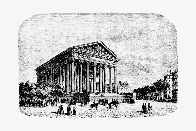 Madeleine-kirche in paris Kostenlosen Vektoren