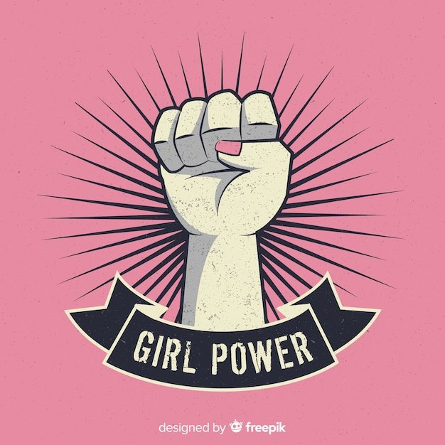 Mädchen faustsymbol Kostenlosen Vektoren