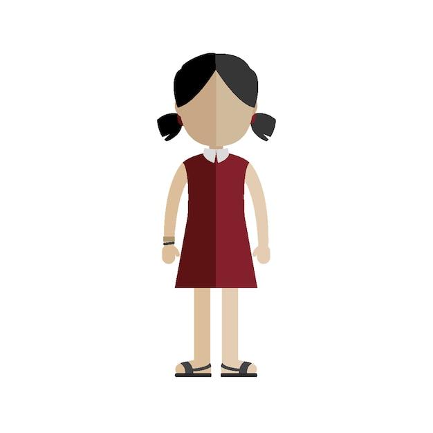Mädchen Kostenlosen Vektoren