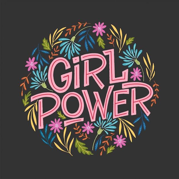 Mädchenpower-illustration Premium Vektoren