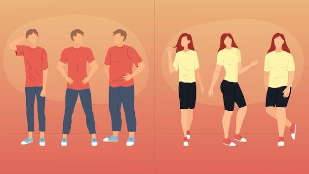 Auf die dünne dicke stehen frauen männer Figurtypen, auf