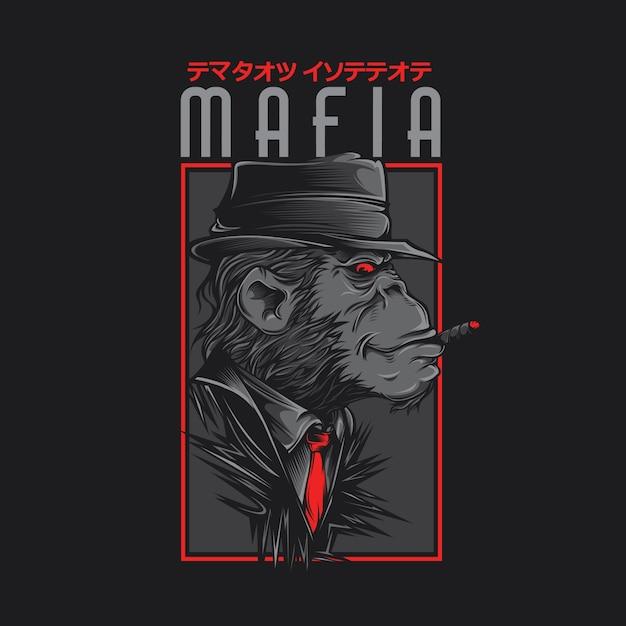 Mafia-affe Premium Vektoren
