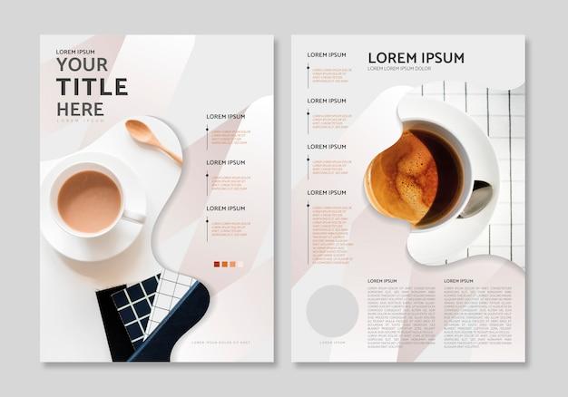 Magazin layoutvorlage Kostenlosen Vektoren