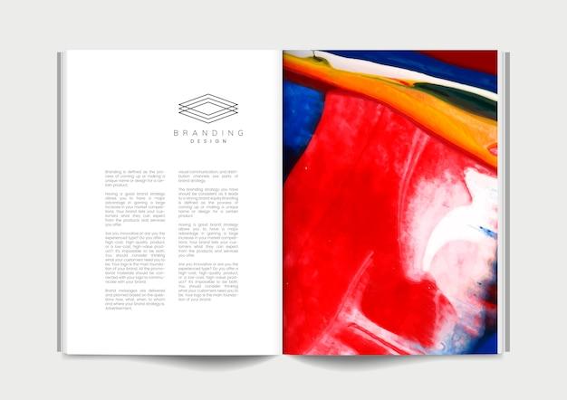 Magazin mit branding-ideen Kostenlosen Vektoren