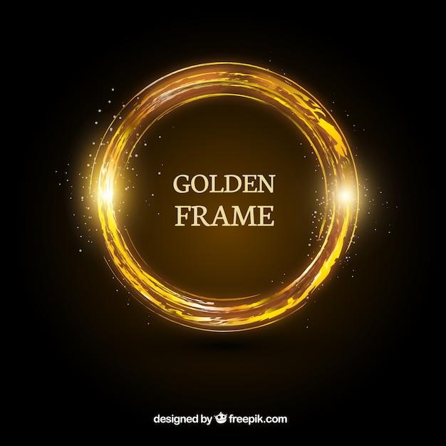 Magie goldenen ring Kostenlosen Vektoren