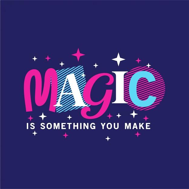 Magie - typografie Premium Vektoren