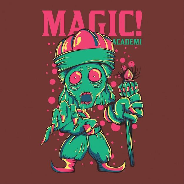 Magische akademie Premium Vektoren
