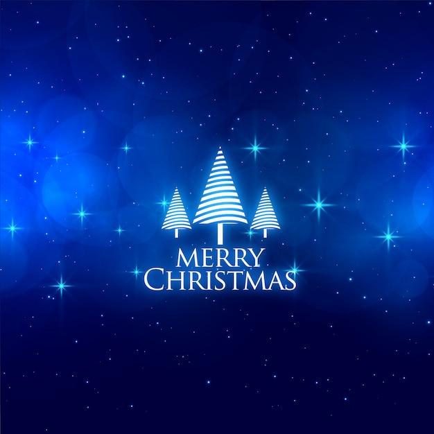 Magische blaue frohe weihnachten spielt hintergrund die hauptrolle Kostenlosen Vektoren
