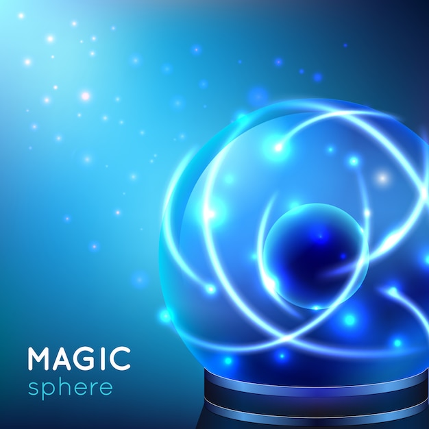 Magische kugel illustration Kostenlosen Vektoren