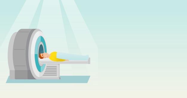 Magnetresonanztomographie-vektor-illustration. Premium Vektoren