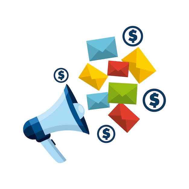 Mail-marketing-design Premium Vektoren