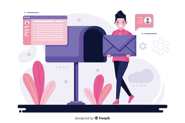 Mailbox konzept abbildung Kostenlosen Vektoren