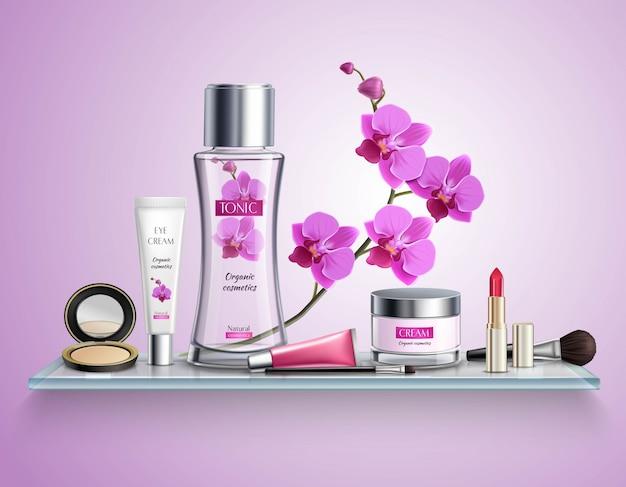 Make-up realistische komposition Kostenlosen Vektoren