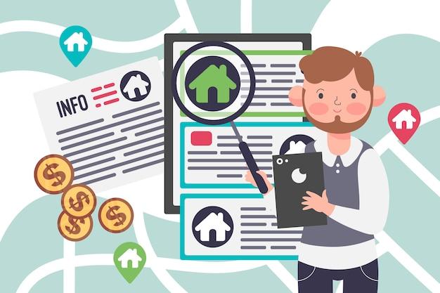 Maklerunterstützung illustrationskonzept Kostenlosen Vektoren
