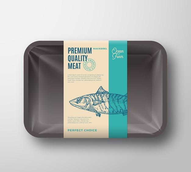 Makrelenpaket in premiumqualität. Kostenlosen Vektoren
