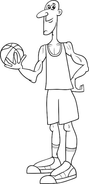 Malvorlage für Basketballspieler | Download der Premium Vektor