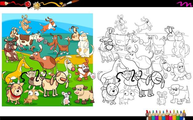 Malvorlagen für Hunde-Charaktere | Download der Premium Vektor