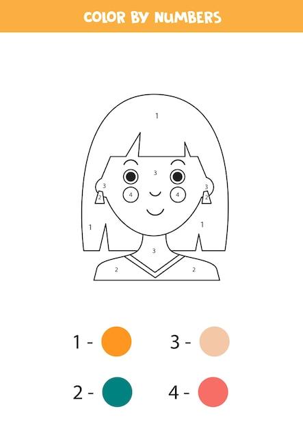 malvorlagen mit cartoonmädchen farbe nach zahlen