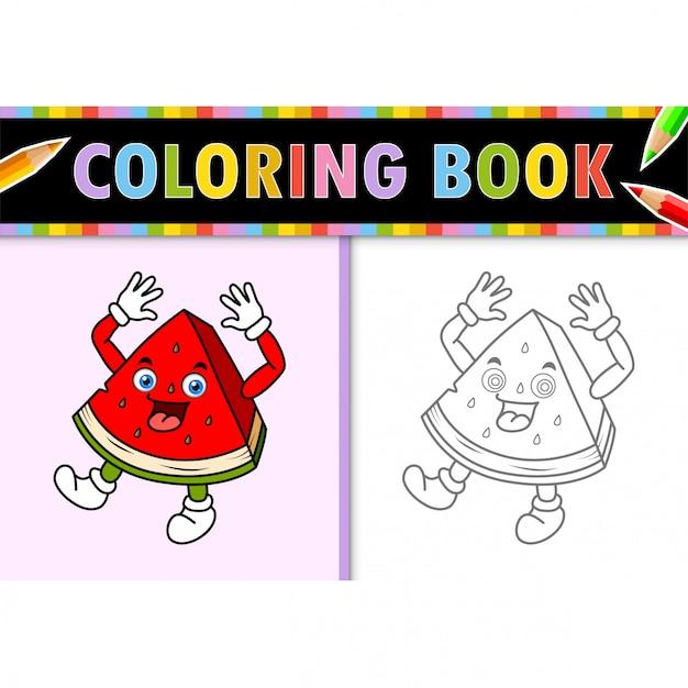 malvorlagen umriss der karikatur wassermelone bunte
