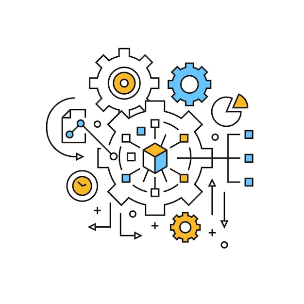 Management-illustration Premium Vektoren