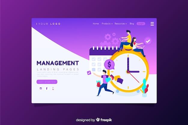 Management-landing-page Kostenlosen Vektoren