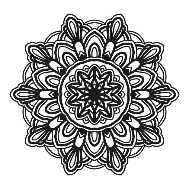 Mandala-blumenillustrations-vektordesign Premium Vektoren