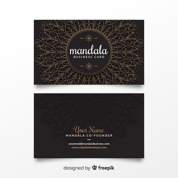 Mandala-bussines-kartenschablone Kostenlosen Vektoren