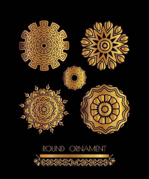 Mandala goldene kunst Premium Vektoren