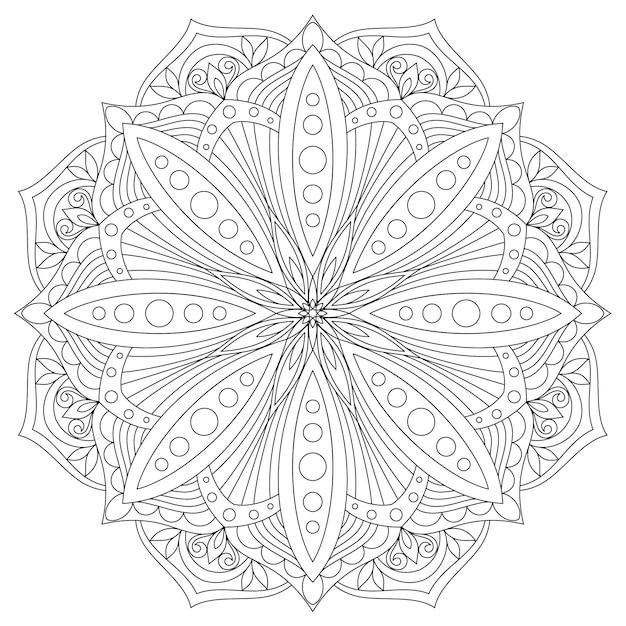 Mandala. hand gezeichnetes orientalisches dekoratives element. ethnisches gestaltungselement. Premium Vektoren