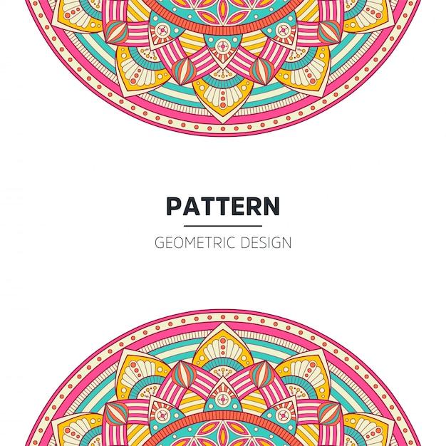 Mandala hintergrunddesign Premium Vektoren