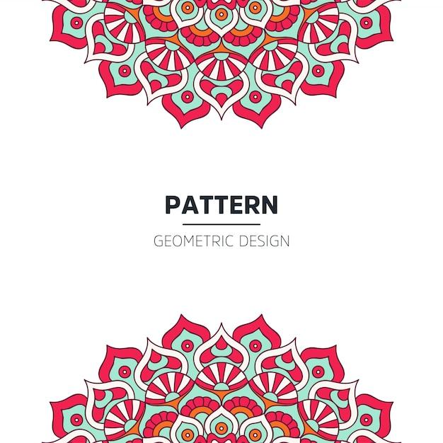 Mandala hintergrunddesign Kostenlosen Vektoren