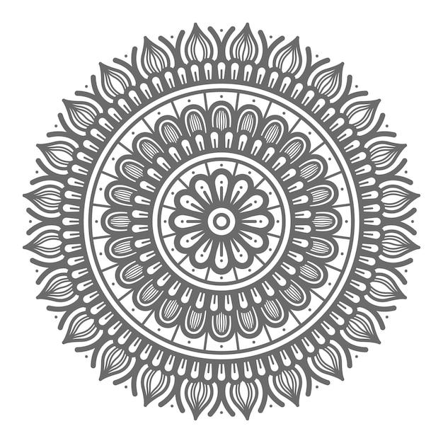 Mandala-illustration für abstraktes und dekoratives konzept im kreisförmigen stil Premium Vektoren