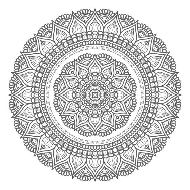 Mandala-illustration im kreisförmigen stil Premium Vektoren