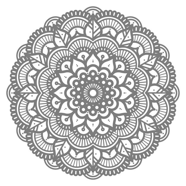 Mandala-illustration mit kreisstil für abstrakten hintergrund Premium Vektoren