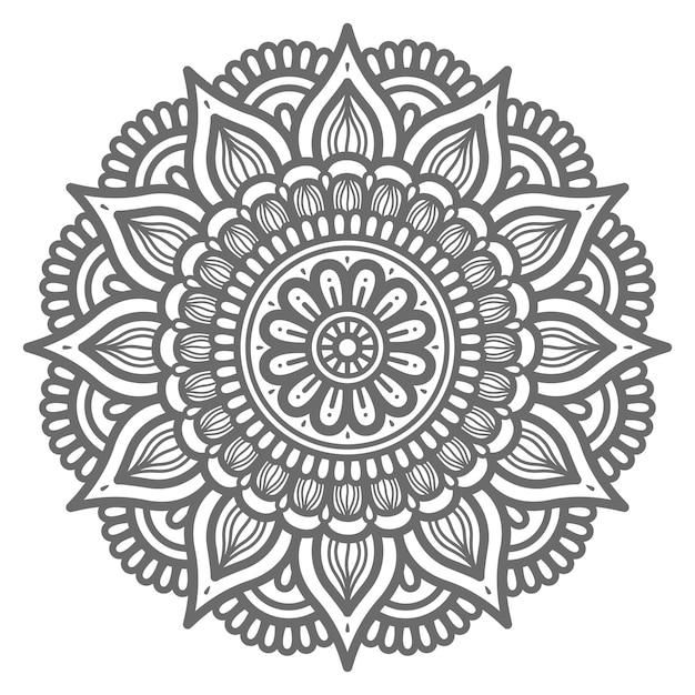 Mandala im kreisförmigen stil Premium Vektoren