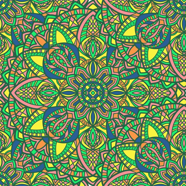 Mandala mit abstrakten formen Premium Vektoren