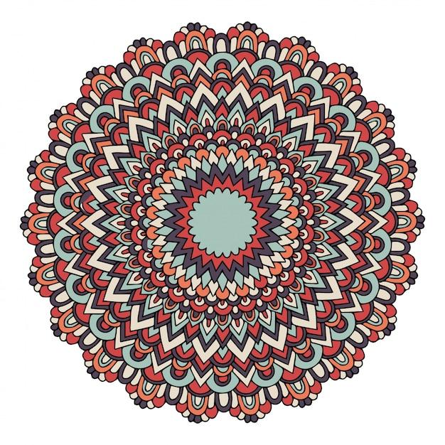 Mandala mit osmanischen motiven Premium Vektoren