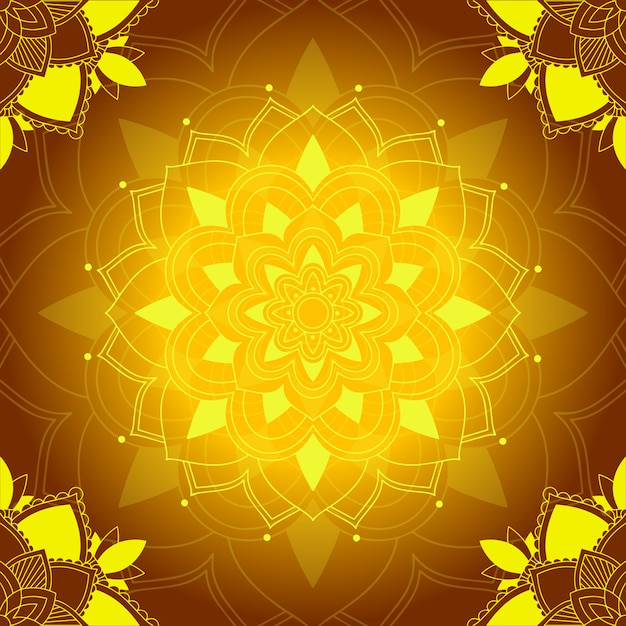 Mandala-muster auf braun Kostenlosen Vektoren