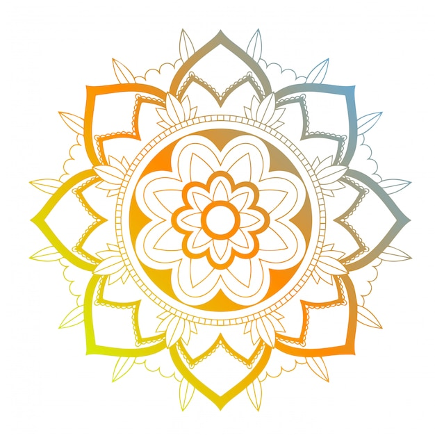 Mandala-muster Kostenlosen Vektoren