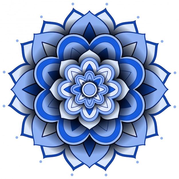 Mandala musterentwurf auf weißem hintergrund Kostenlosen Vektoren