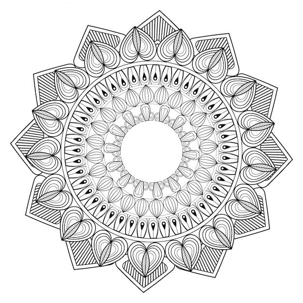 Premium Vektor Mandala Ornament Vorlage Gliederung