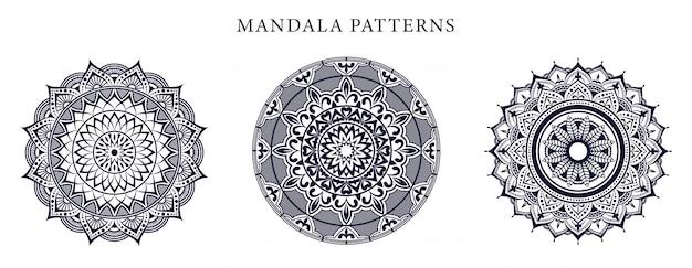 Mandala ornamental luxury gold farbe Premium Vektoren