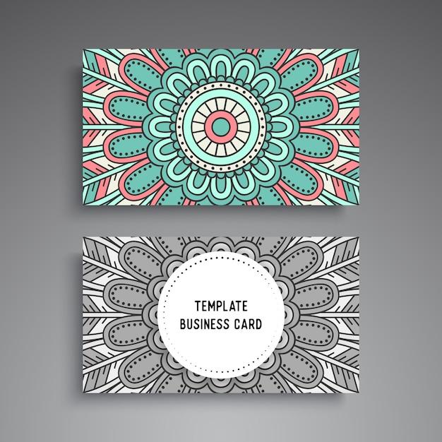 Mandala ornamentale visitenkartenvorlage Premium Vektoren