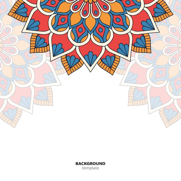 Mandala. rundes ornamentmuster. ethnischer orientalischer hintergrund Premium Vektoren