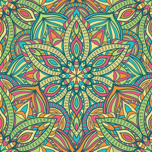 Mandala-vektor-design zum drucken. stammes-ornament. Premium Vektoren